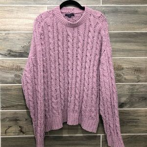 American Eagle Lavender Fuzzy Knit Sweater